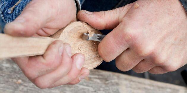 Lär dig konsten att tälja i färskt trä – njut av doften och handens arbete