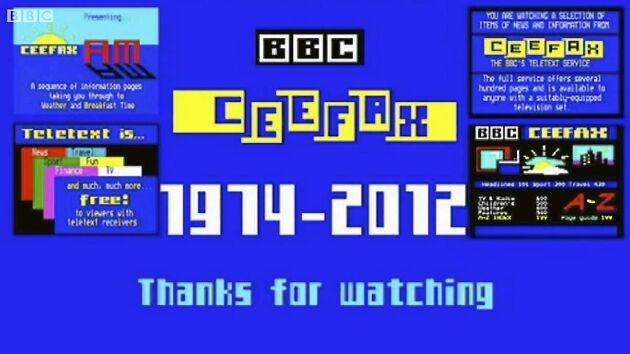 Brittiska Ceefax, motsvarigheten och föregångaren till SVT Text, gick i graven år 2012.