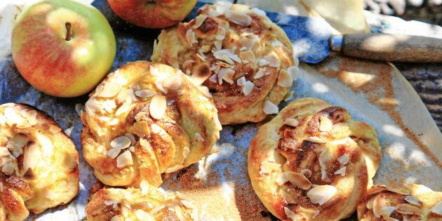 Äppelbullar med kardemumma och ingefära– vanvettigt goda!