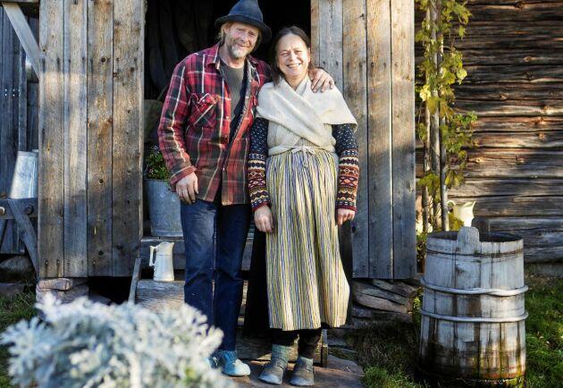 Owe Lindgren och Yvonne Svedberg bor på sin fäbod året om!