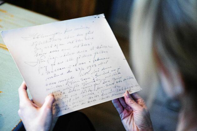 """""""Hälsningar till mina efterträdare på gården, jag vet ej om det blir våra barn eller vilka det blir"""", inleds det ganska långa brevet."""