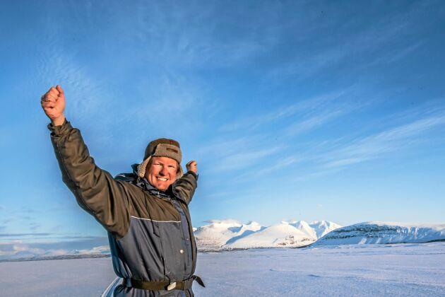 Vita vidder. Lennart Pittja njuter av att verka på marker som genom århundraden varit samiska, där hans förfäder bott.