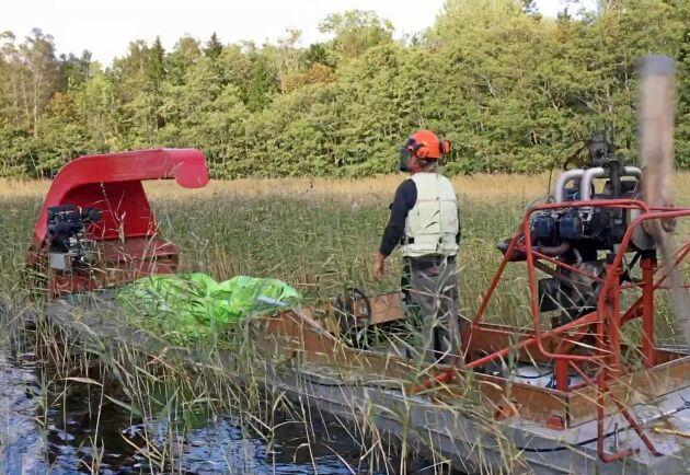 """Alla delar till maskinen har Fredrik Holmén köpt begagnat. """"För mig är även recycling viktigt. Jag vill jobba så miljömedvetet som möjligt."""""""