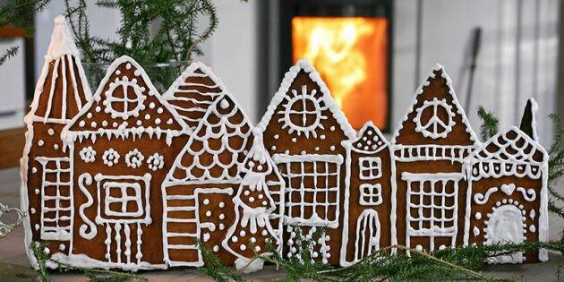 Bygg en bedårande by av pepparkakshus