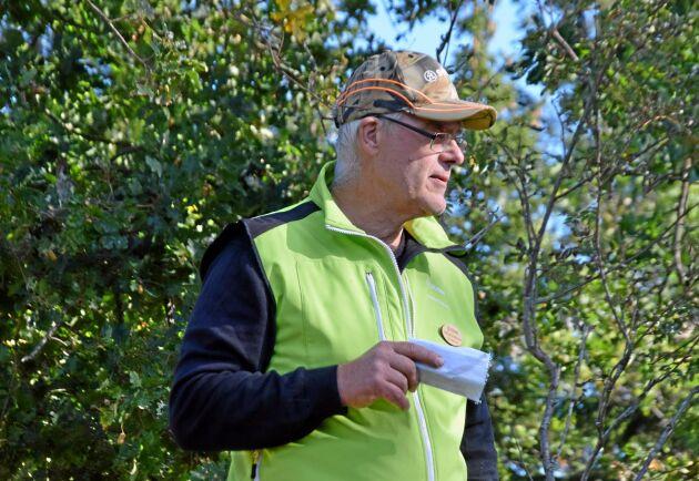 Michael Andersson, viltombud Södra, pratade om vikten av att kunna jämföra betade skogspartier med helt orörda.