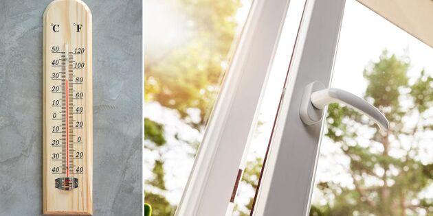 Undvik värmebölja inomhus – 8 tips för att svalka ner!
