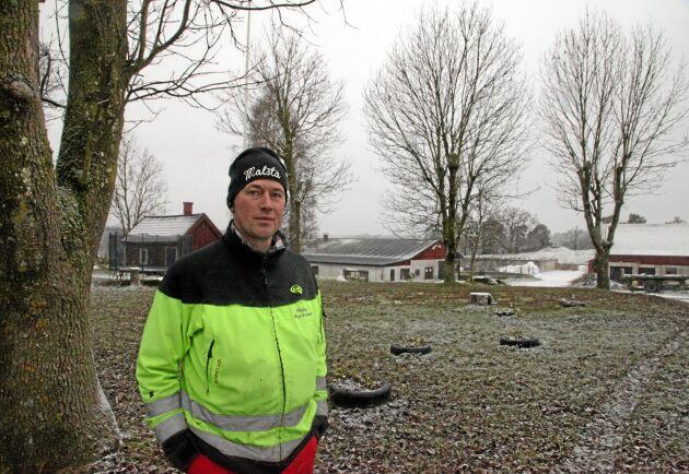 Göran Bengtsson på Malsta gård. ATL besökte honom 2017.