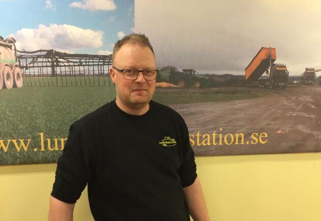 Fredrik Johansson, ägare av Lundby Maskinstation.