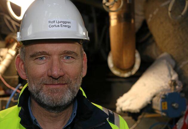 Rolf Ljunggren på Cortus Energi har uppfunnit Woodroll som ger energigas av trädbränsle.