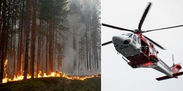 Vill ha fler helikoptrar mot skogsbränder