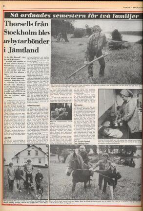 Land skrev om familjen Thorsells sommar som småbönder.