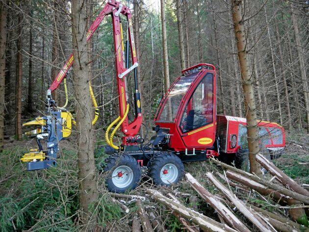 Kranmans nya skördare väger närmare 4 ton.