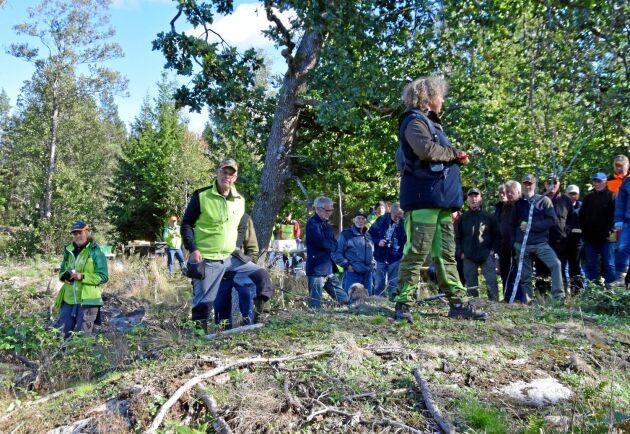 Invigningen av Södras första viltdemohägn anpassat för kron- och dovvilt lockade många skogsägare.
