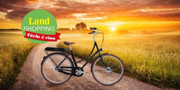 AVSLUTAD: Vinn Land Shoppings supersuccé – elcykeln Stålhästen Prima