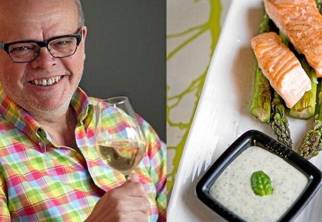 Håkan Larsson tipsar om lättlagad lax och gott vin till.