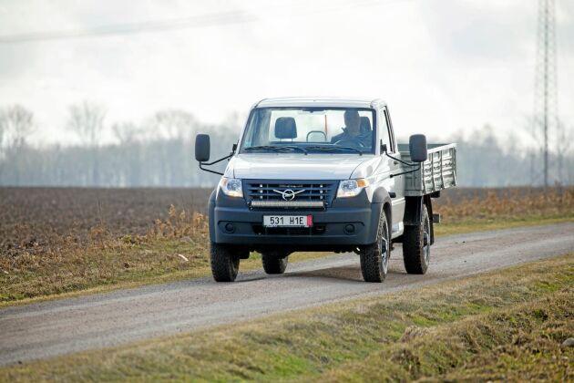 UAZ Profi är en tekniskt okomplicerad pickup som imponerar med lastyta och lastförmåga.