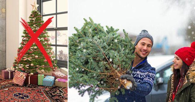 Jakten på julgranen är en del av julmagin – det är inte de giftiga ämnena i plastgranen.