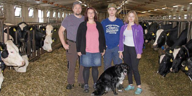 De tog över stor mjölkgård – av en slump