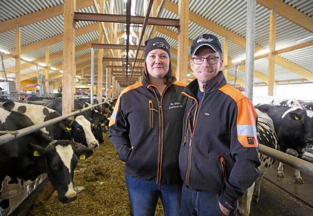 Mjölkbönderna Anna- Lena Nilsson och Olof Nilsson i Tvärålund, fem mil nordväst om Umeå, har byggt ut sin gård i etapper nästan varje år sedan 2006.