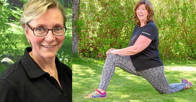 Sjukgymnast Carin Kruse Smidjedriver artrosskola i Mölndal. Här fick Kicki Granath träningsstöd och blev av med värken.