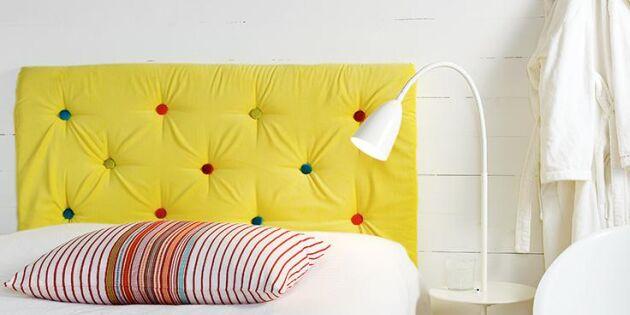 Fixa en egen stoppad sänggavel