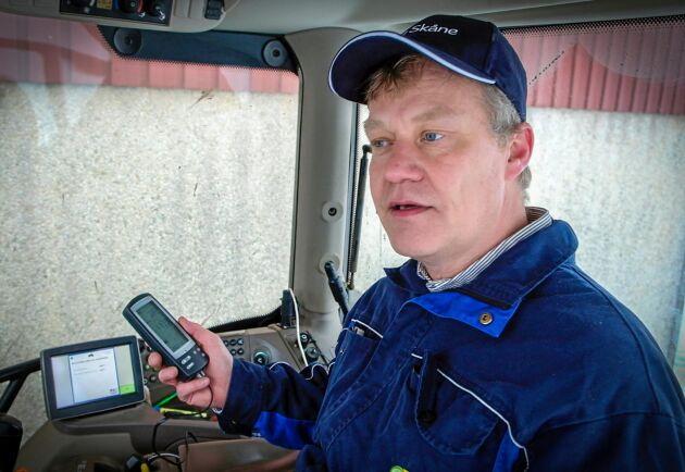 Sparsam. Fredrik Hallefält är maskin- och energirådgivare på HIR Skåne och håller kurser i sparsam körning.