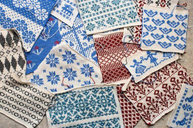 Maja Karlsson skapar nytt med gamla svenska mönster.
