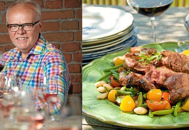 Håkan Larsson bjuder på smakrikt lamm och med ett gott synfranskt vin till.