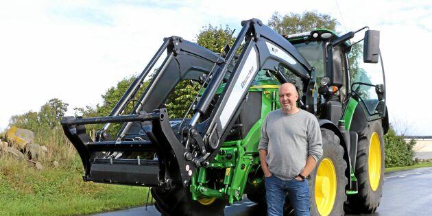 Full rulle med traktor B