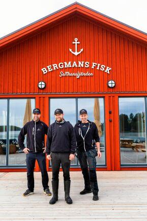 Kusinerna Lars-Gunnar, Dennis och Magnus storsatsar på att driva släktens företag vidare, Bergmans fisk.