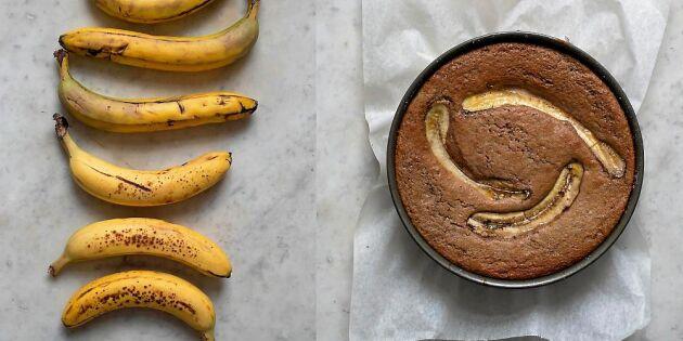 Chokladig banankaka – lyxig favorit till fikat