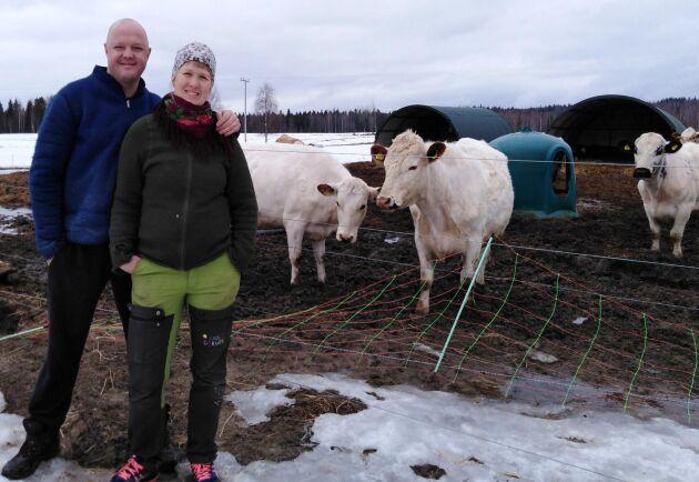Åsa Lindmo och Magnus Eriksson insåg att de ville bli lantbrukare på heltid.