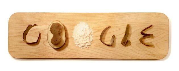 Google hyllar den svenska potatiskvinnan Eva Ekeblad genom en doodle.