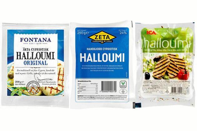 Fontana, Zeta och Ica är de främsta importörerna av cypriotisk halloumi.
