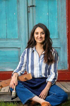 Kreativa Nicole Castillo driver sitt företag hemifrån gården i västerbottniska Byske.
