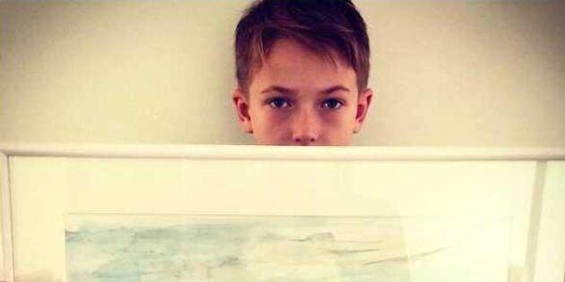 Lars Lerin är hans idol – nu ställer 11-årige Maxi ut sina fantastiska naturmålningar