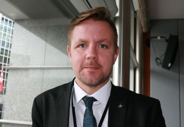Fredrick Federley, (C), manar EU att agera mot spridningen av afrikansk svinpest.