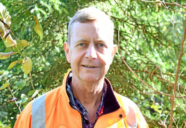 Skogsägaren Lars Nilsson i sin skog.