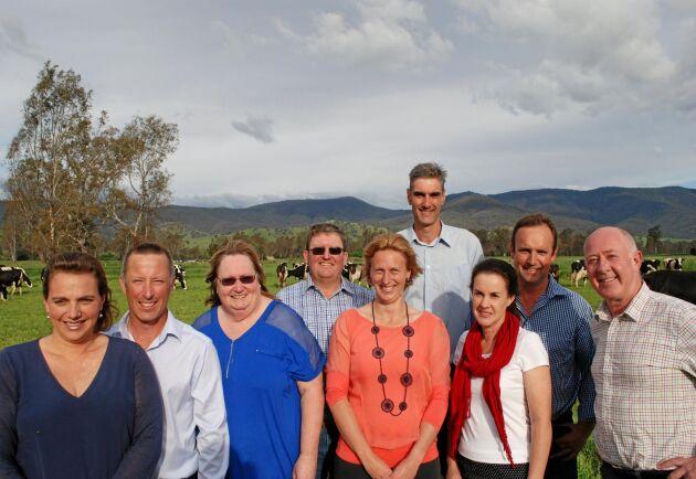 Kooperativet Mountain Milks fem första medlemsfamiljer.