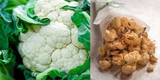 Kryddiga och krispiga blomkålspopcorn
