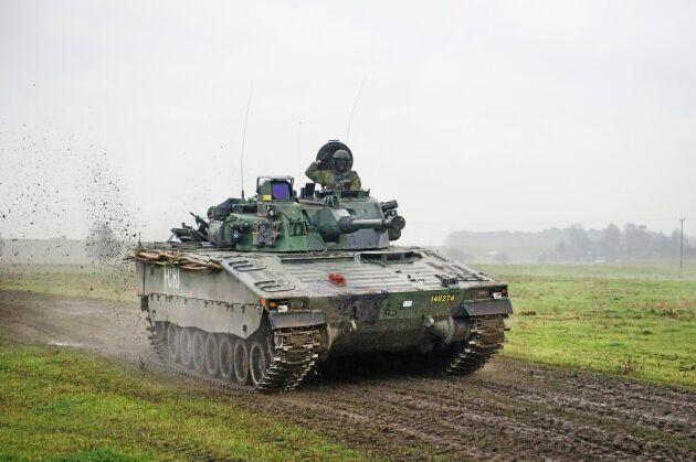 Militärövning på Revingehed.