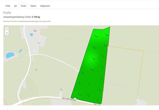 Algoritmerna ska användas på den digitala tjänsten Markkartering.se. Här visas en utvärdering av markkartering på en av Hurhållningssällskapets försöksgårdar.