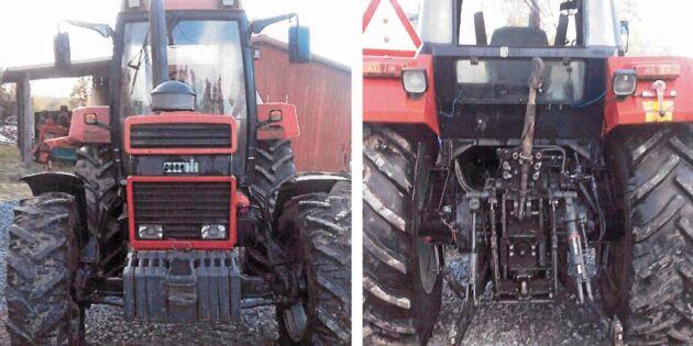 Blocketbedragaren använde deras traktor som dragplåster