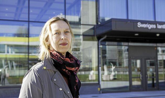 Kristina Julin, avdelningsdirektör vid SLUs planeringsavdelning i Uppsala.