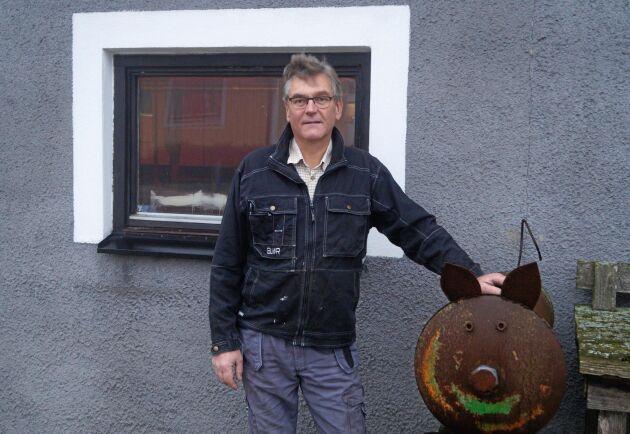 """""""Vi har för närvarande för få aktörer för att kunna få en fungerande marknad"""", säger grisuppfödaren Christian Järlesäter från skånska Degeberga."""