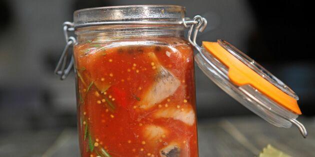 Smaskig tomatsill till buffébordet