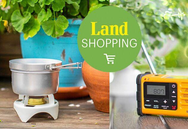 Stormkök och radio är två saker som är bra att ha vid en längre kris.