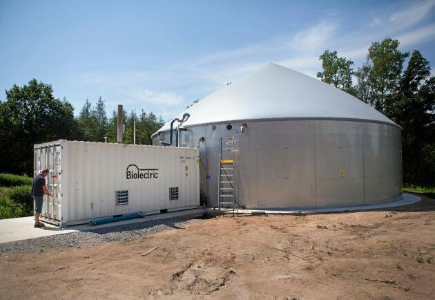 Gungvalas biogasanläggning är Biolectrics nionde i Sverige.