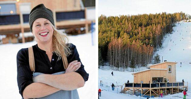 Malin Jonsson Näsman vågade satsa nytt mitt i skidbacken i Järvsö.